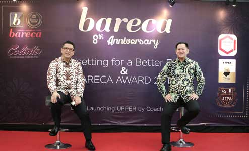 "BARECA 8th Anniversary: Mindsetting for a Better Future, BARECA Award 2019 dan Book Launching ""UPPER"" by Coach Indra Kurniawan"
